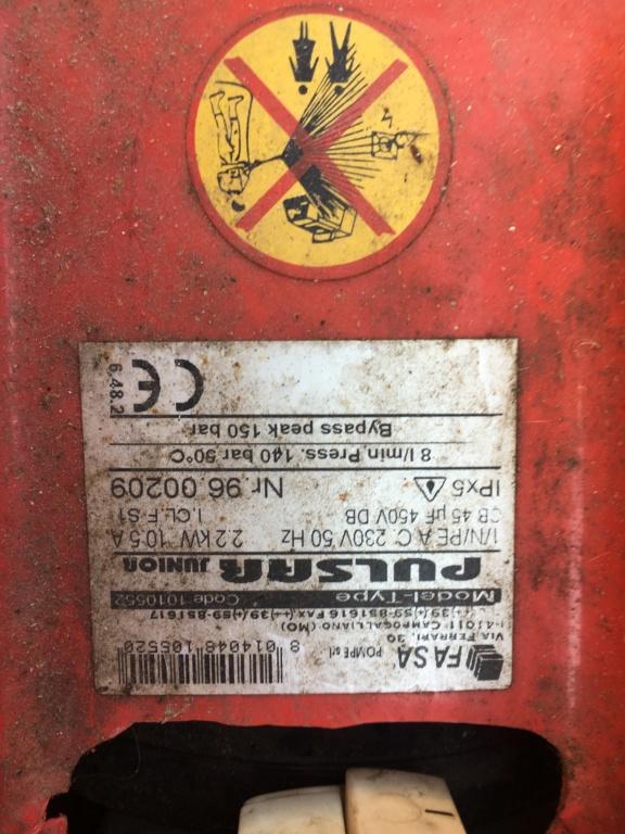 Problemi idropulitrice Fasa Pulsar Junior 140 E29fed10