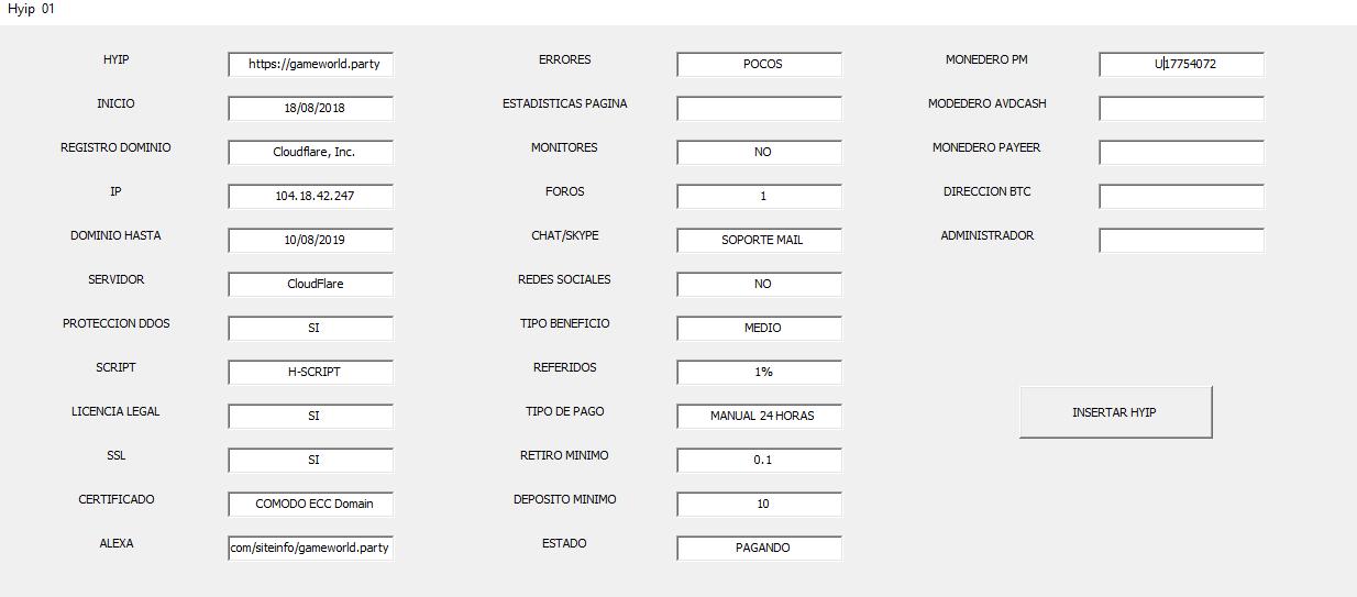 [CERRADA] GAMEWORLD - gameworld.party - REF 80% - inversion minima 10$ 0213