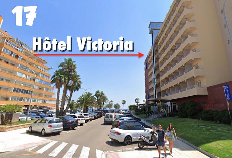 ITINERAIRE ROSAS HOTEL VICTORIA 1710