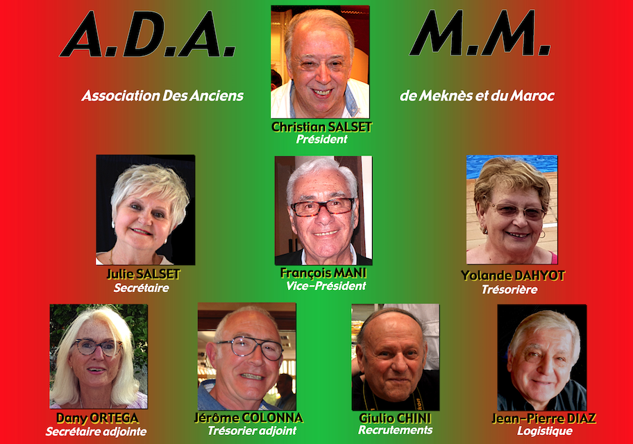 Composition du bureau Directeur de ADAMM Bureau12