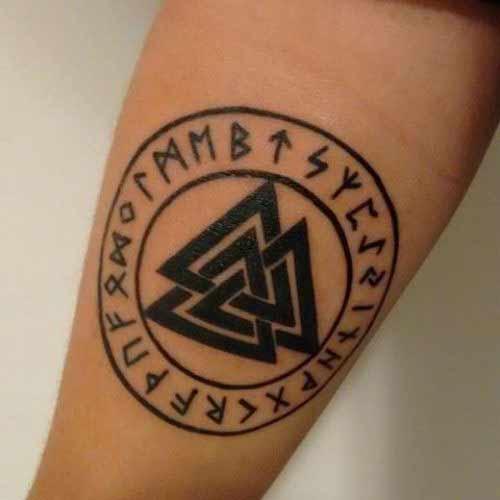 Татуировки с Рунами (подборка фото) - Страница 11 1210