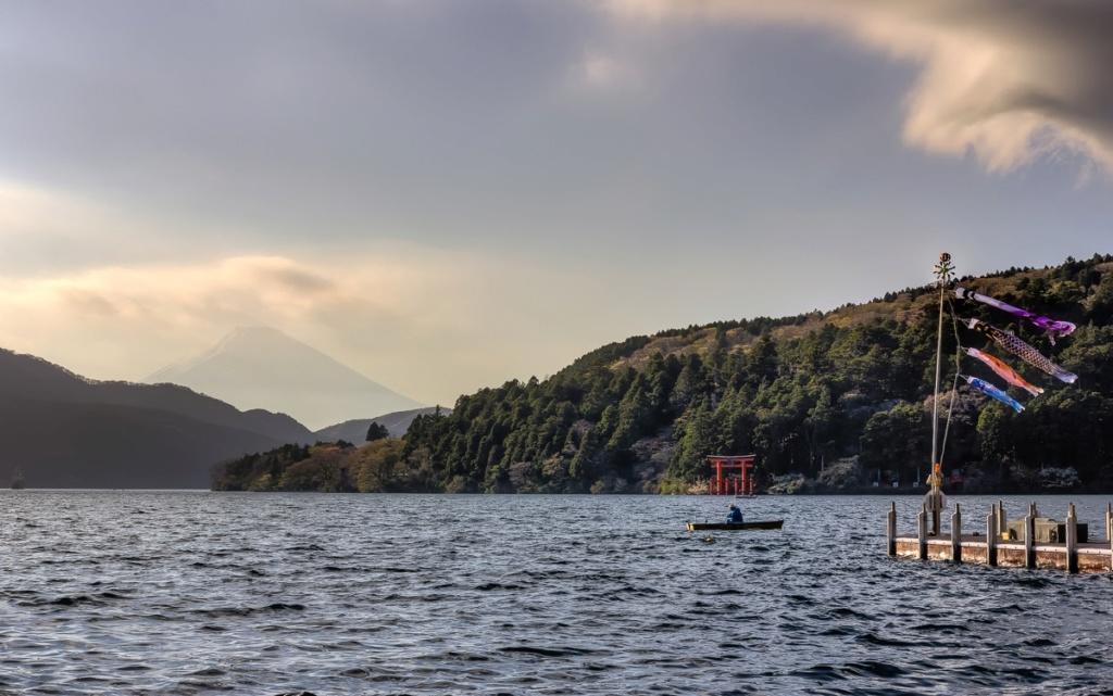 Le mont Fuji depuis le lac Ashi Mpvt-u11