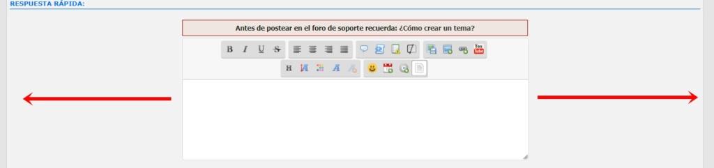 Alargar el editor de texto Chat10