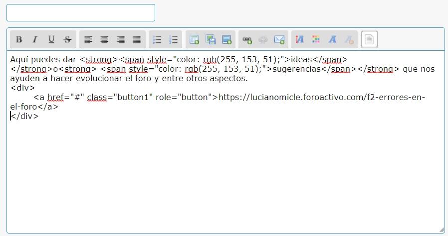 Como adicionar botões a uma descrição de fórum Error112