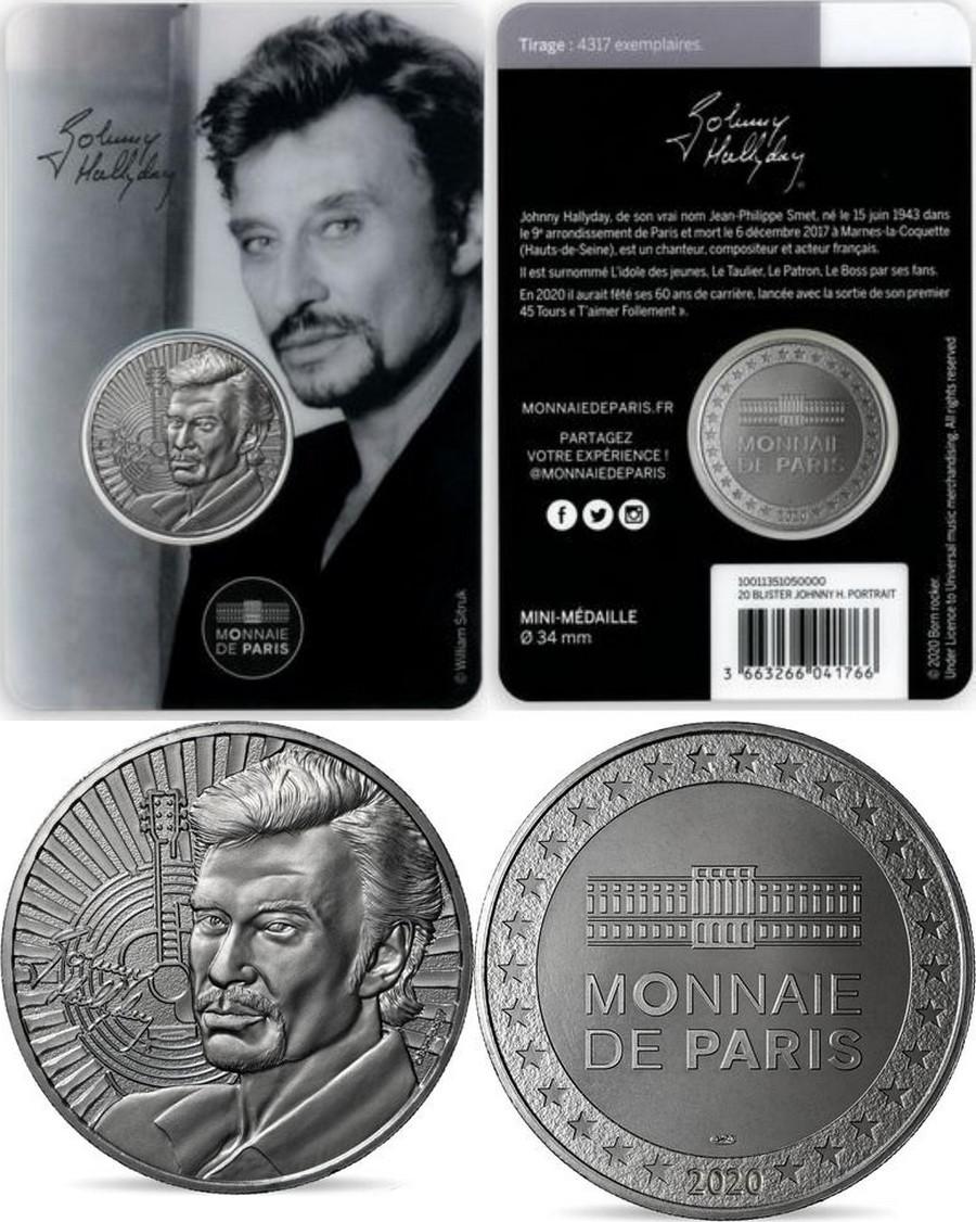 MONNAIE DE PARIS - JOHNNY HALLYDAY - 60 ANS DE SOUVENIRS ( 2020 ) 10011317