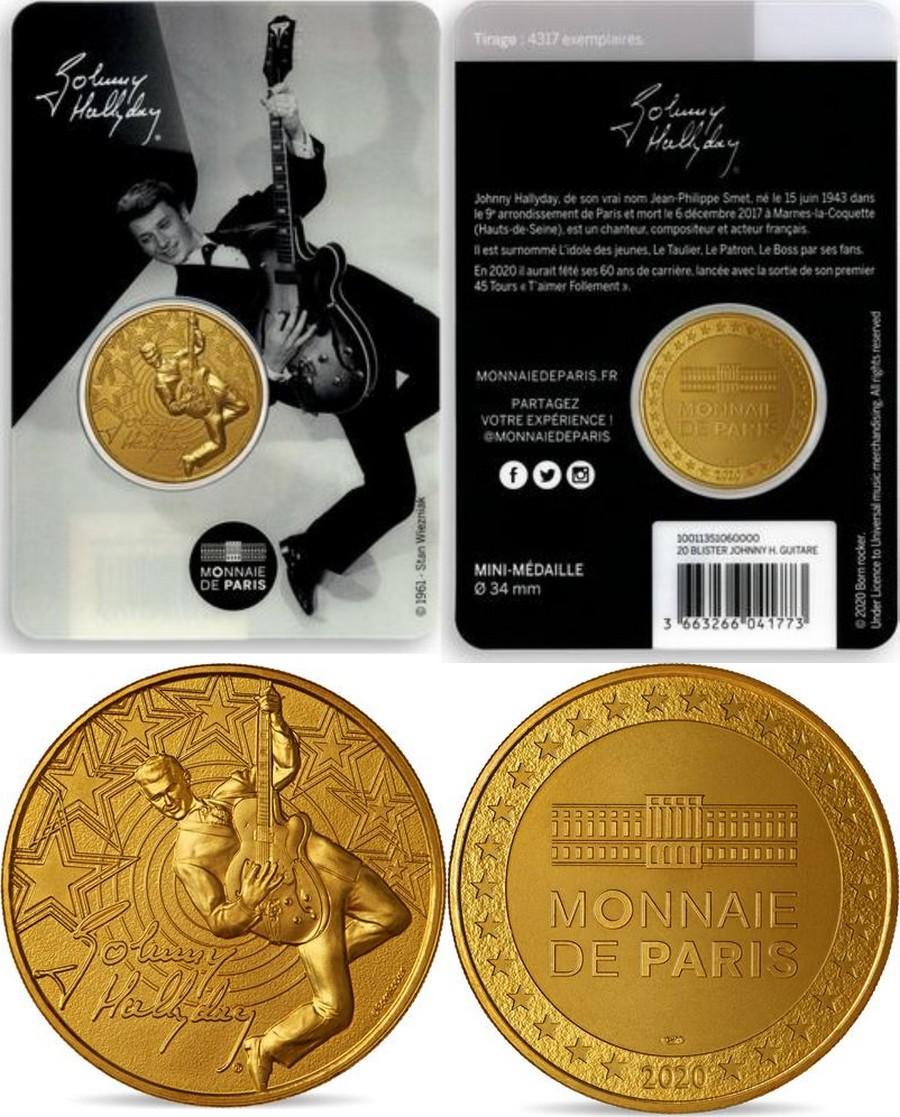 MONNAIE DE PARIS - JOHNNY HALLYDAY - 60 ANS DE SOUVENIRS ( 2020 ) 10011318