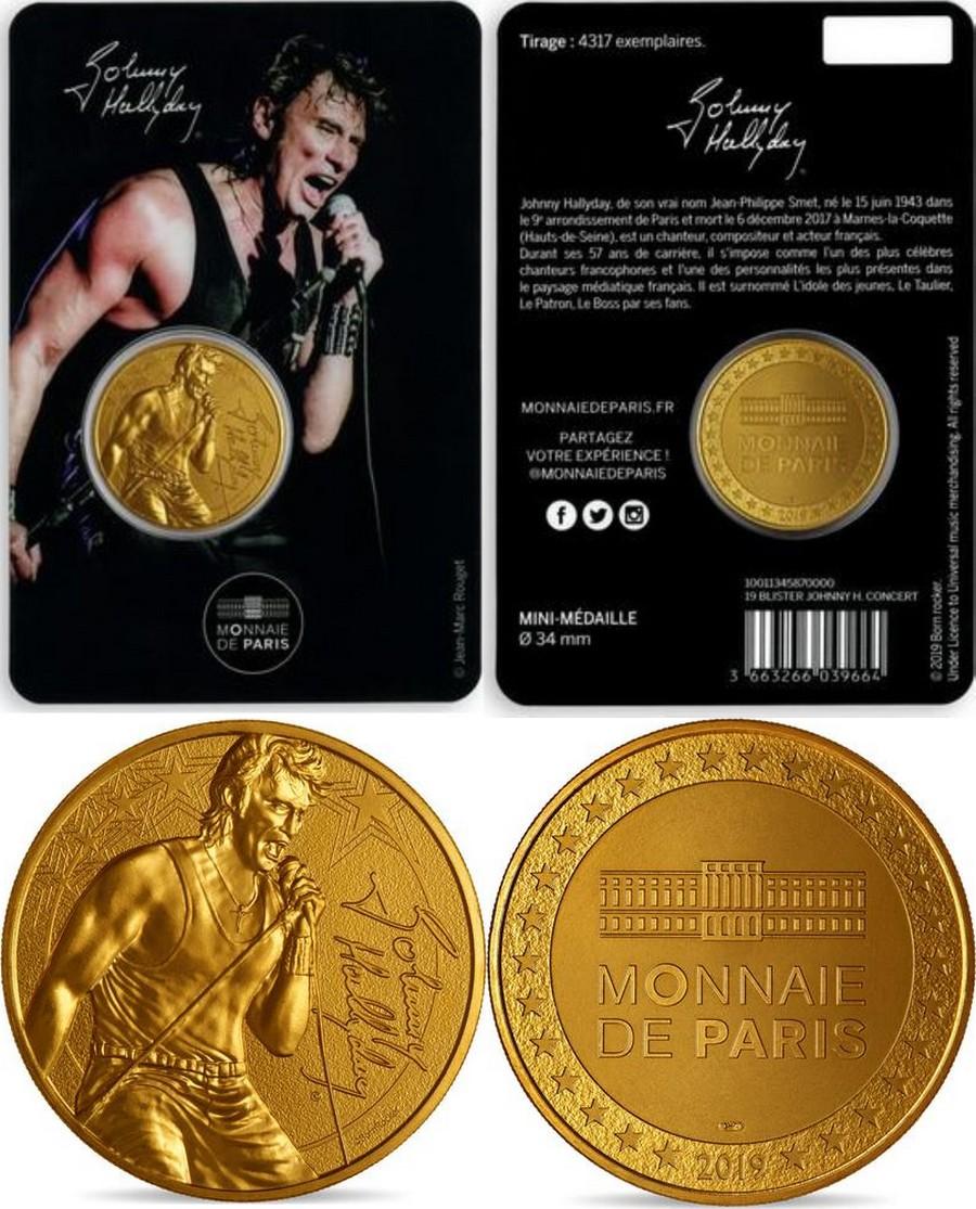MONNAIE DE PARIS - JOHNNY HALLYDAY - 60 ANS DE SOUVENIRS ( 2020 ) 10011320