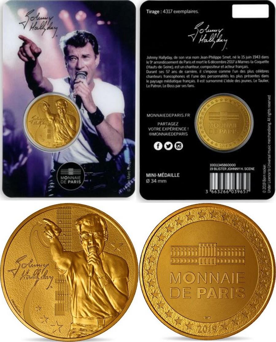 MONNAIE DE PARIS - JOHNNY HALLYDAY - 60 ANS DE SOUVENIRS ( 2020 ) 10011321