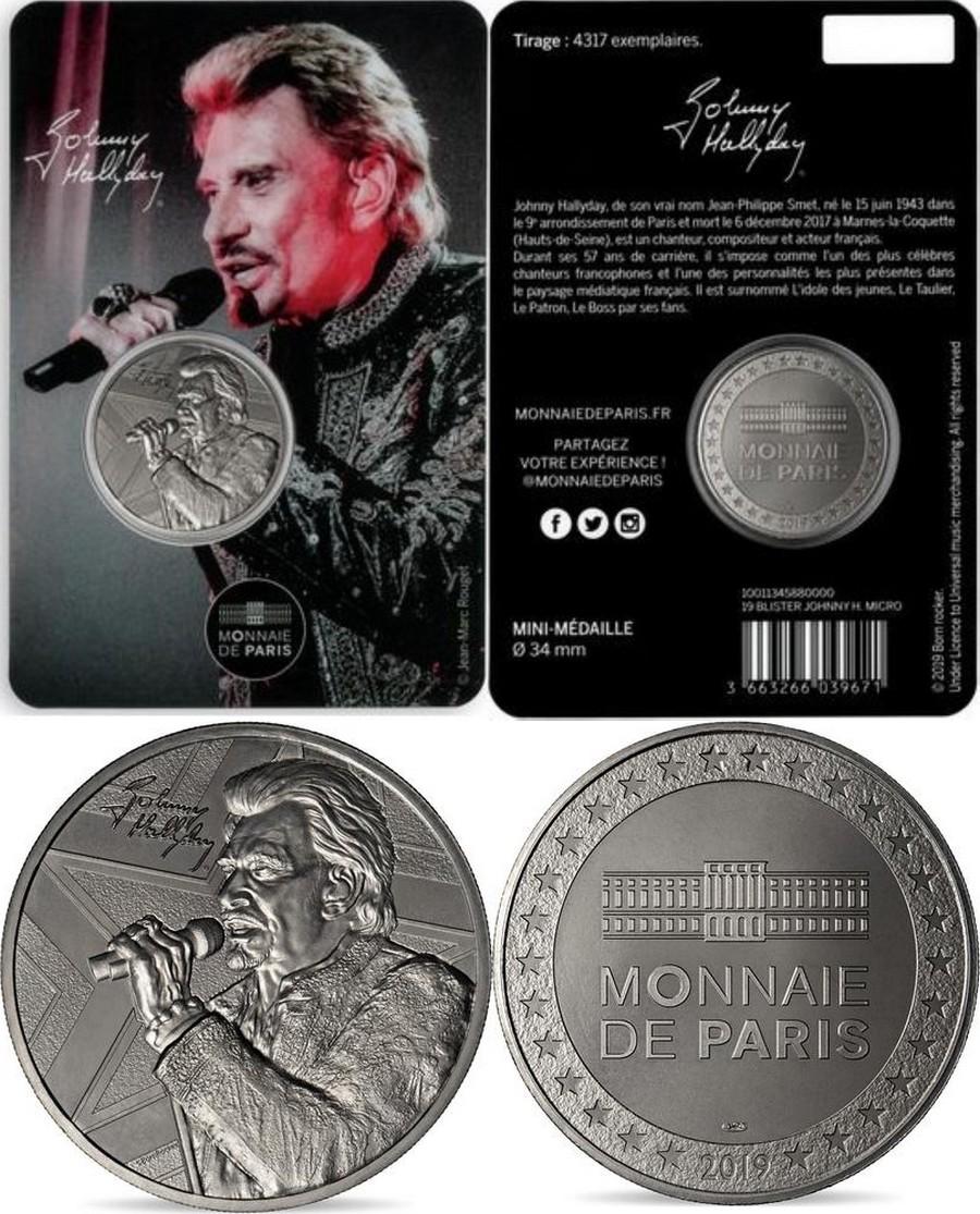 MONNAIE DE PARIS - JOHNNY HALLYDAY - 60 ANS DE SOUVENIRS ( 2020 ) 10011322