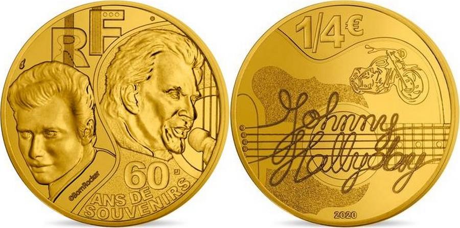 MONNAIE DE PARIS - JOHNNY HALLYDAY - 60 ANS DE SOUVENIRS ( 2020 ) 10041316