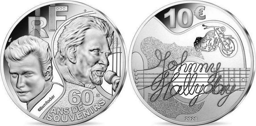 MONNAIE DE PARIS - JOHNNY HALLYDAY - 60 ANS DE SOUVENIRS ( 2020 ) 10041317