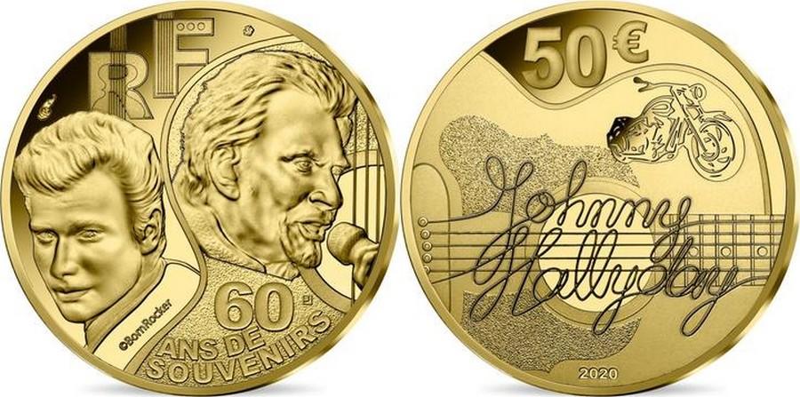MONNAIE DE PARIS - JOHNNY HALLYDAY - 60 ANS DE SOUVENIRS ( 2020 ) 10041318