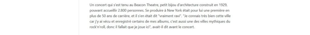 LES CONCERTS DE JOHNNY 'BEACON THEATRE, NEW YORK 2012' 11011