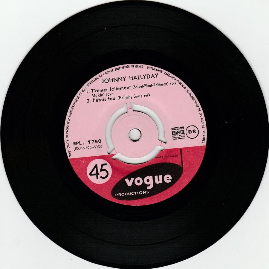 T'aimer follement ( EP 45 TOURS )( TOUTES LES EDITIONS )( 1960 - 2019 ) 1960_072
