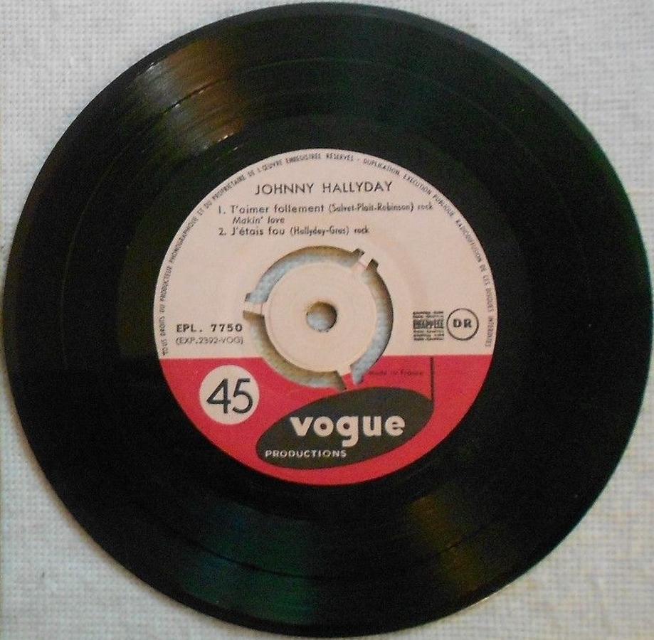 T'aimer follement ( EP 45 TOURS )( TOUTES LES EDITIONS )( 1960 - 2019 ) 1960_087