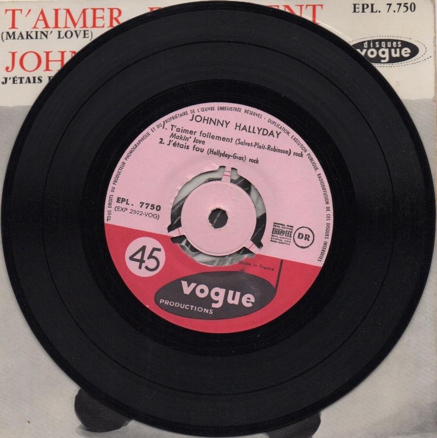 T'aimer follement ( EP 45 TOURS )( TOUTES LES EDITIONS )( 1960 - 2019 ) 1960_098