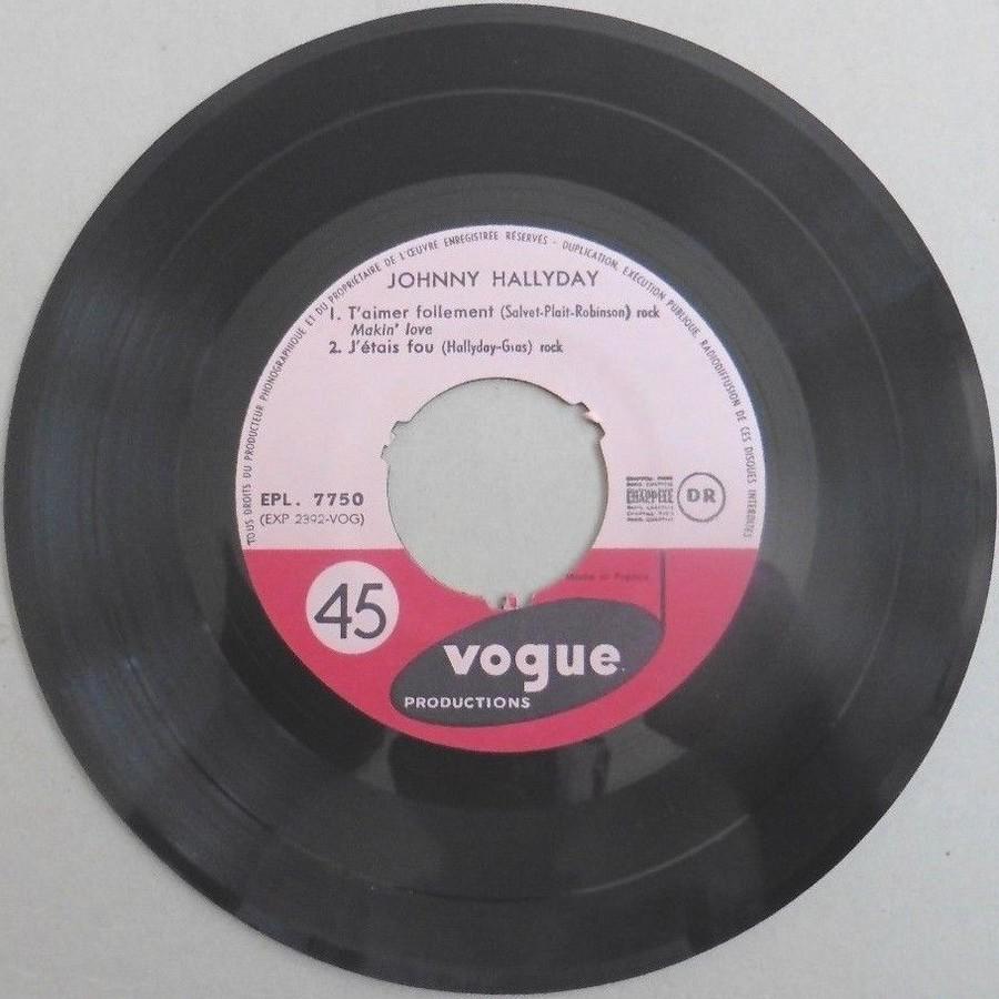 T'aimer follement ( EP 45 TOURS )( TOUTES LES EDITIONS )( 1960 - 2019 ) 1960_109