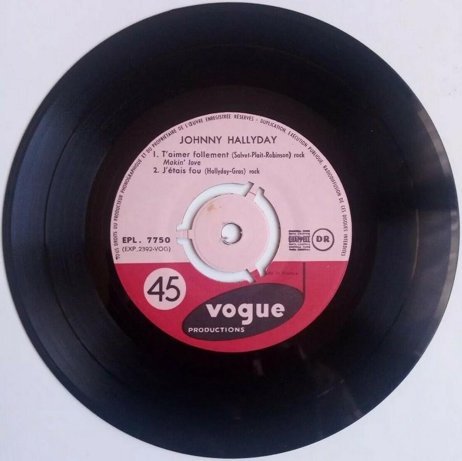 T'aimer follement ( EP 45 TOURS )( TOUTES LES EDITIONS )( 1960 - 2019 ) 1960_134