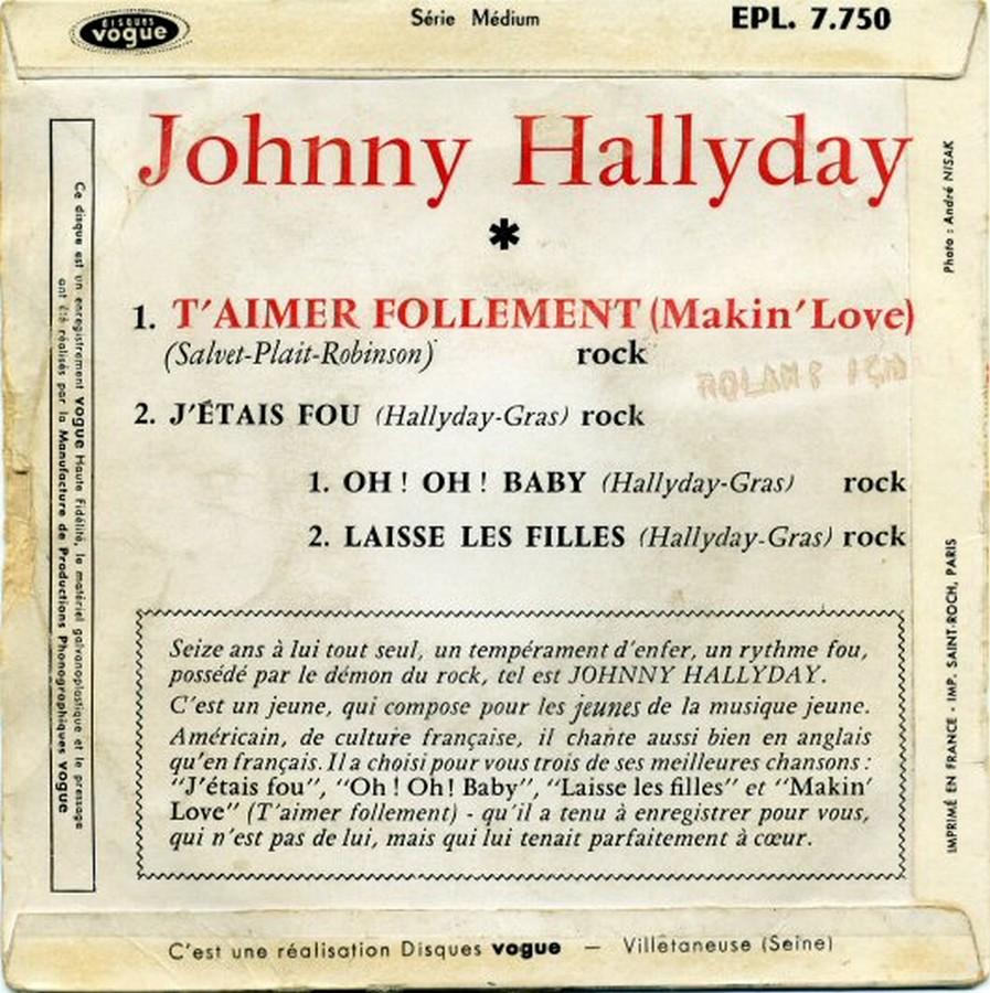 T'aimer follement ( EP 45 TOURS )( TOUTES LES EDITIONS )( 1960 - 2019 ) 1960_136