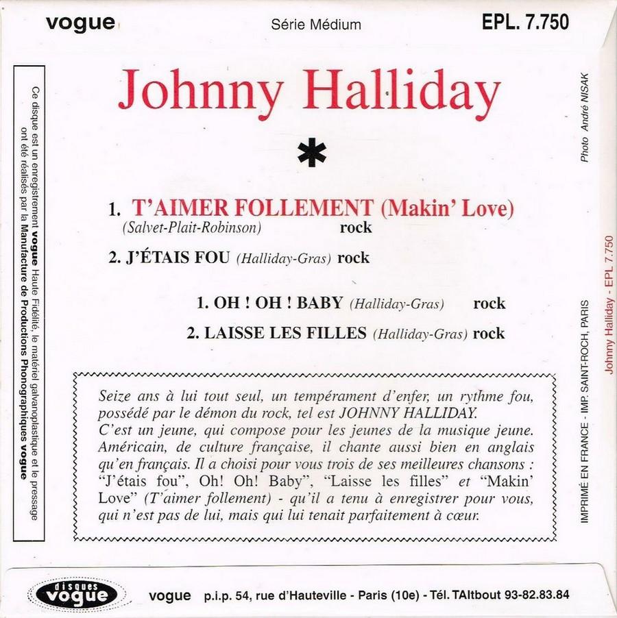 T'aimer follement ( EP 45 TOURS )( TOUTES LES EDITIONS )( 1960 - 2019 ) 1960_152