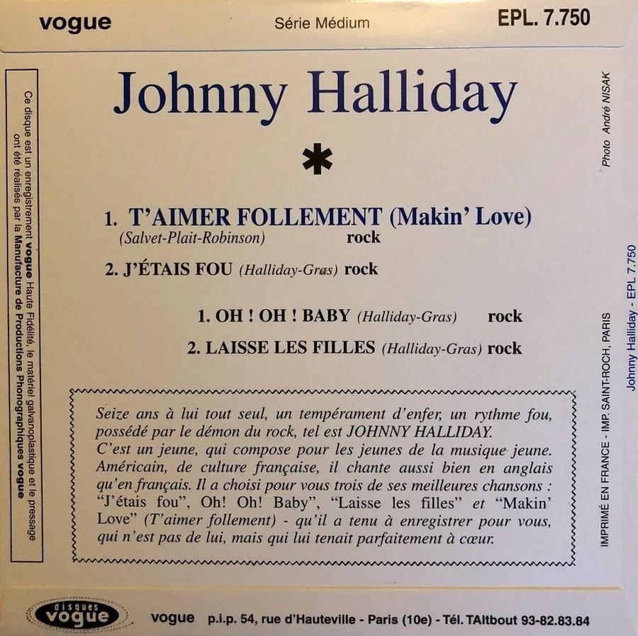 T'aimer follement ( EP 45 TOURS )( TOUTES LES EDITIONS )( 1960 - 2019 ) 1960_156