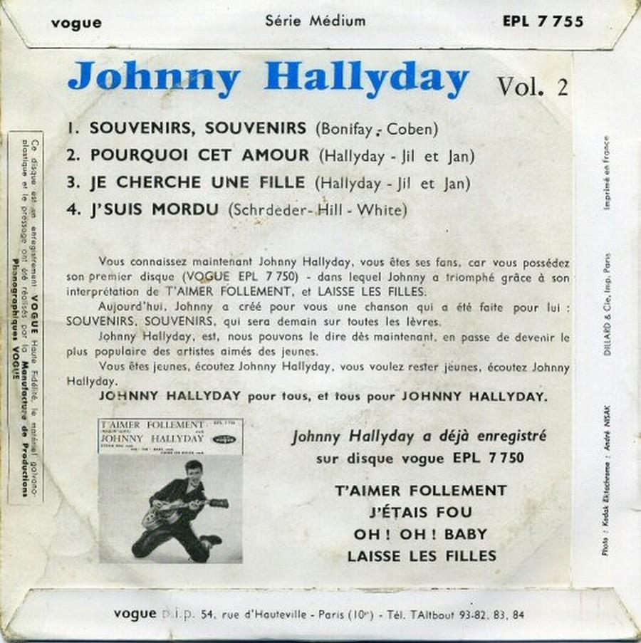 Souvenirs souvenirs ( EP 45 TOURS )( TOUTES LES EDITIONS )( 1960 - 2019 ) 1960_173