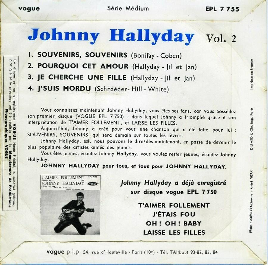 Souvenirs souvenirs ( EP 45 TOURS )( TOUTES LES EDITIONS )( 1960 - 2019 ) 1960_177
