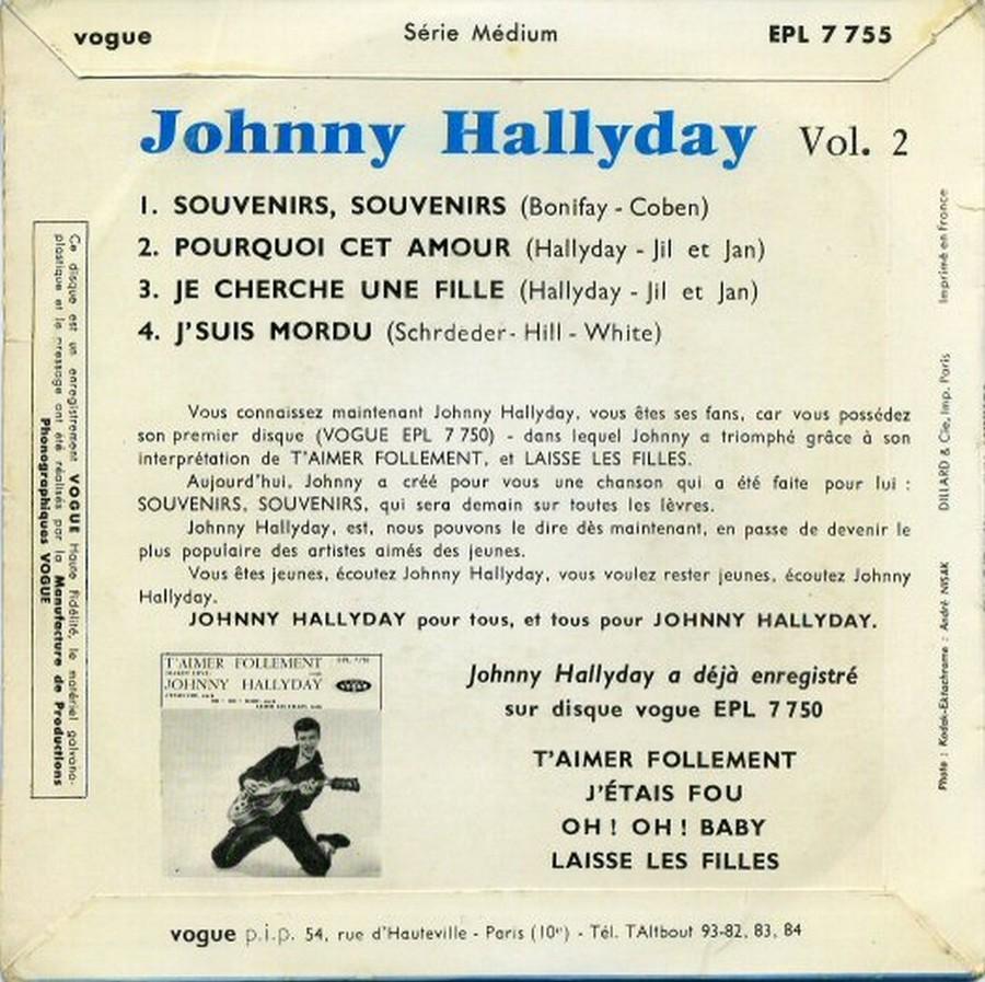 Souvenirs souvenirs ( EP 45 TOURS )( TOUTES LES EDITIONS )( 1960 - 2019 ) 1960_185