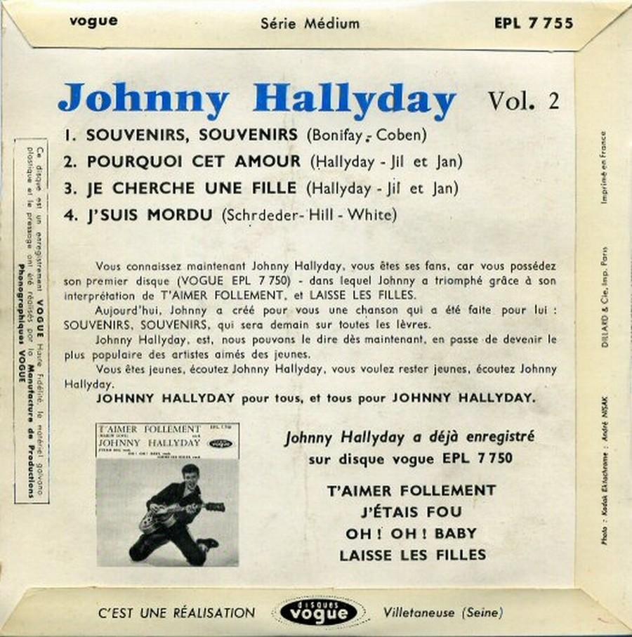 Souvenirs souvenirs ( EP 45 TOURS )( TOUTES LES EDITIONS )( 1960 - 2019 ) 1960_193
