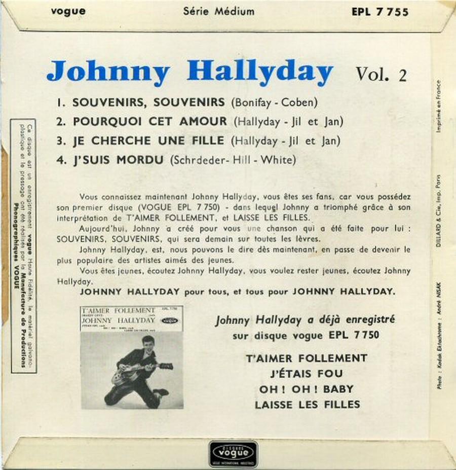 Souvenirs souvenirs ( EP 45 TOURS )( TOUTES LES EDITIONS )( 1960 - 2019 ) 1960_201