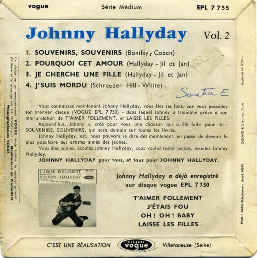 Souvenirs souvenirs ( EP 45 TOURS )( TOUTES LES EDITIONS )( 1960 - 2019 ) 1960_209