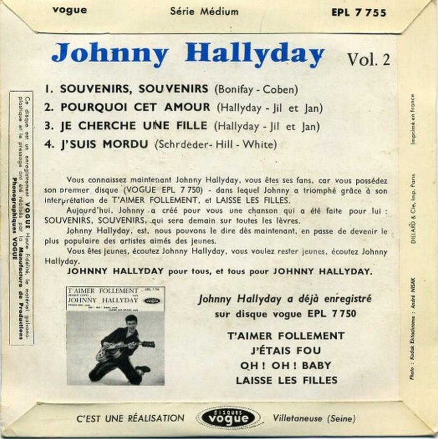 Souvenirs souvenirs ( EP 45 TOURS )( TOUTES LES EDITIONS )( 1960 - 2019 ) 1960_215