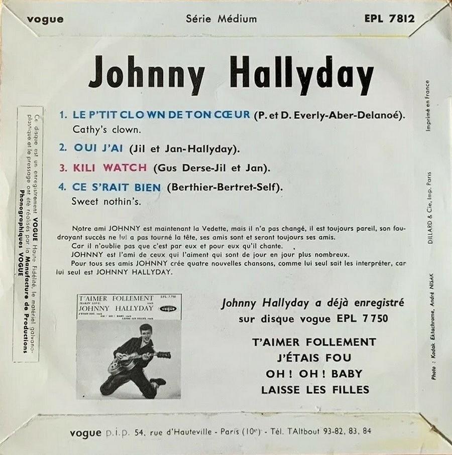 KILI WATCH ( 45 TOURS )( TOUTES LES EDITIONS )( 1960 - 1968 ) 1960_354