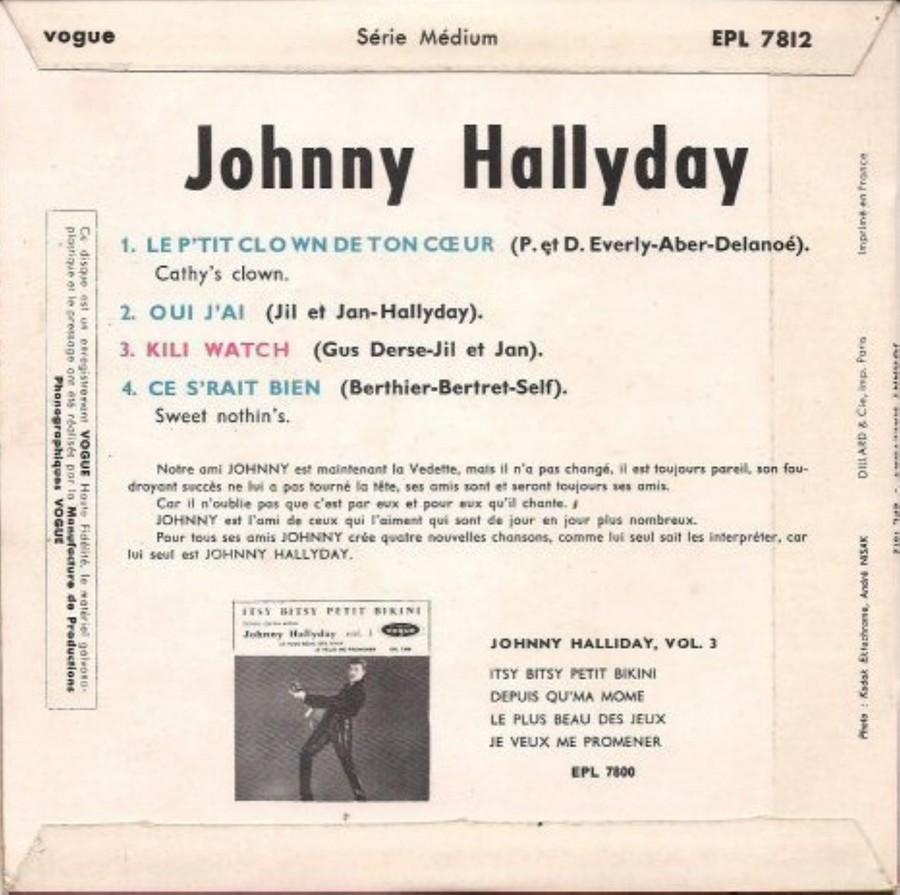 KILI WATCH ( 45 TOURS )( TOUTES LES EDITIONS )( 1960 - 1968 ) 1960_418