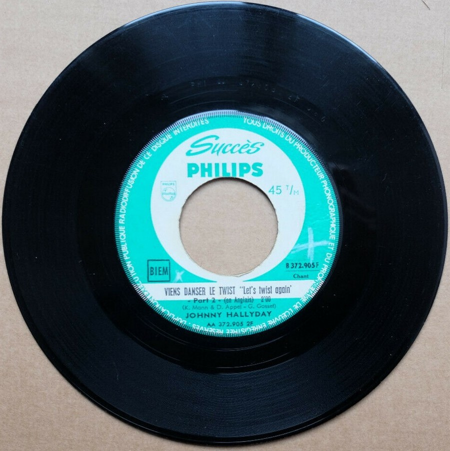 45 TOURS SP PHILIPS ( JUKEBOX )( 1961 - 1969 ) 1961_108