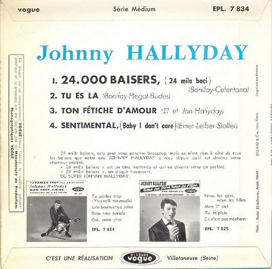 24.000 baisers ( EP 45 TOURS )( TOUTES LES EDITIONS )( 1961 - 2019 ) 1961_208