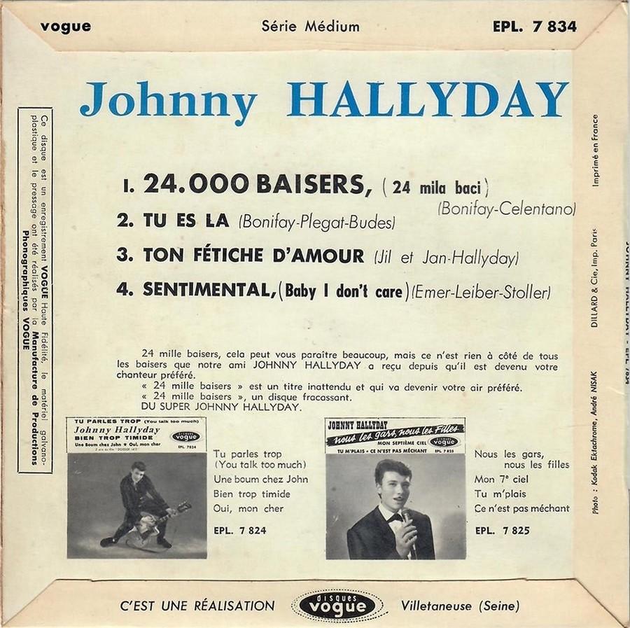 24.000 baisers ( EP 45 TOURS )( TOUTES LES EDITIONS )( 1961 - 2019 ) 1961_213