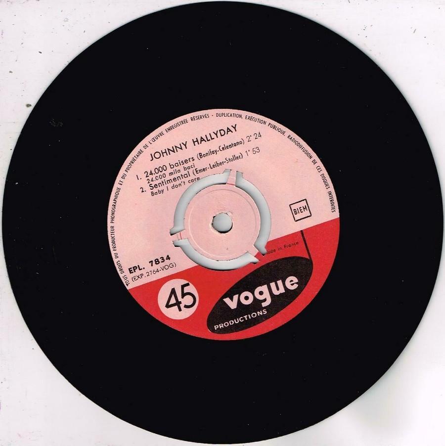 24.000 baisers ( EP 45 TOURS )( TOUTES LES EDITIONS )( 1961 - 2019 ) 1961_215