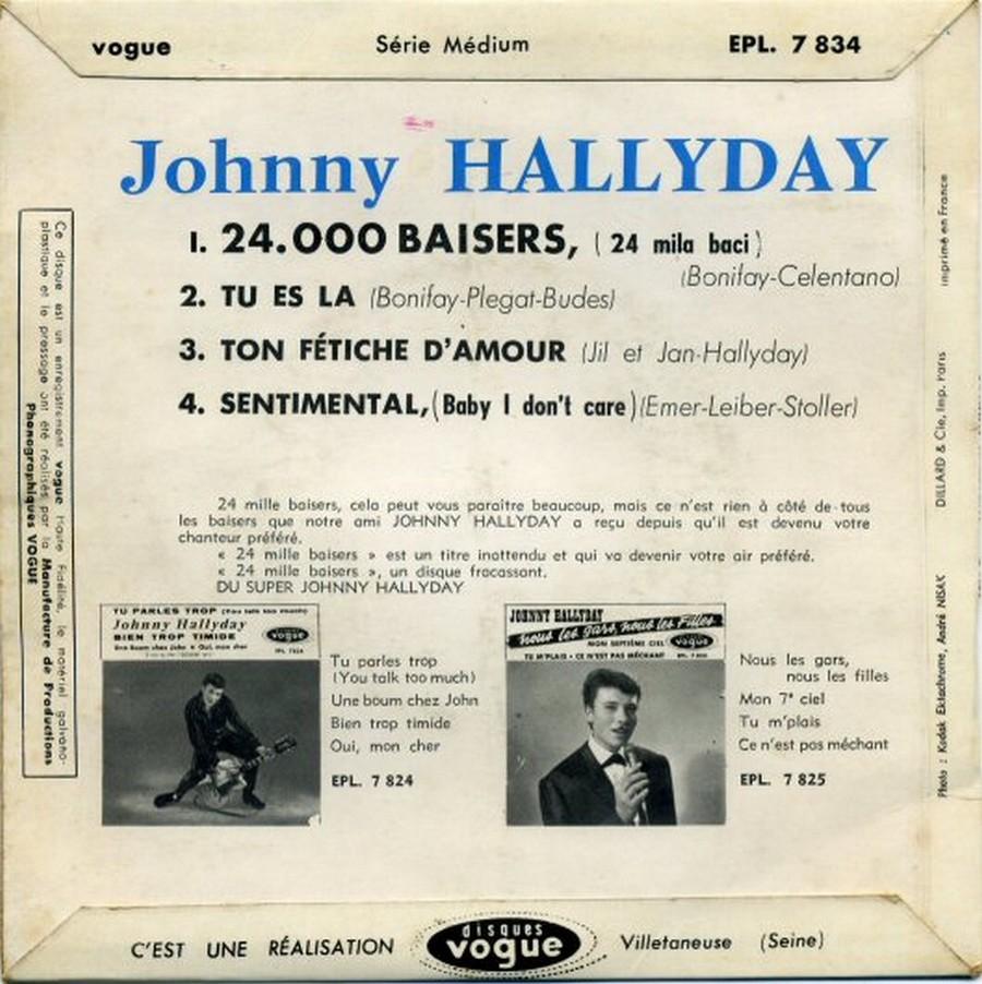 24.000 baisers ( EP 45 TOURS )( TOUTES LES EDITIONS )( 1961 - 2019 ) 1961_217