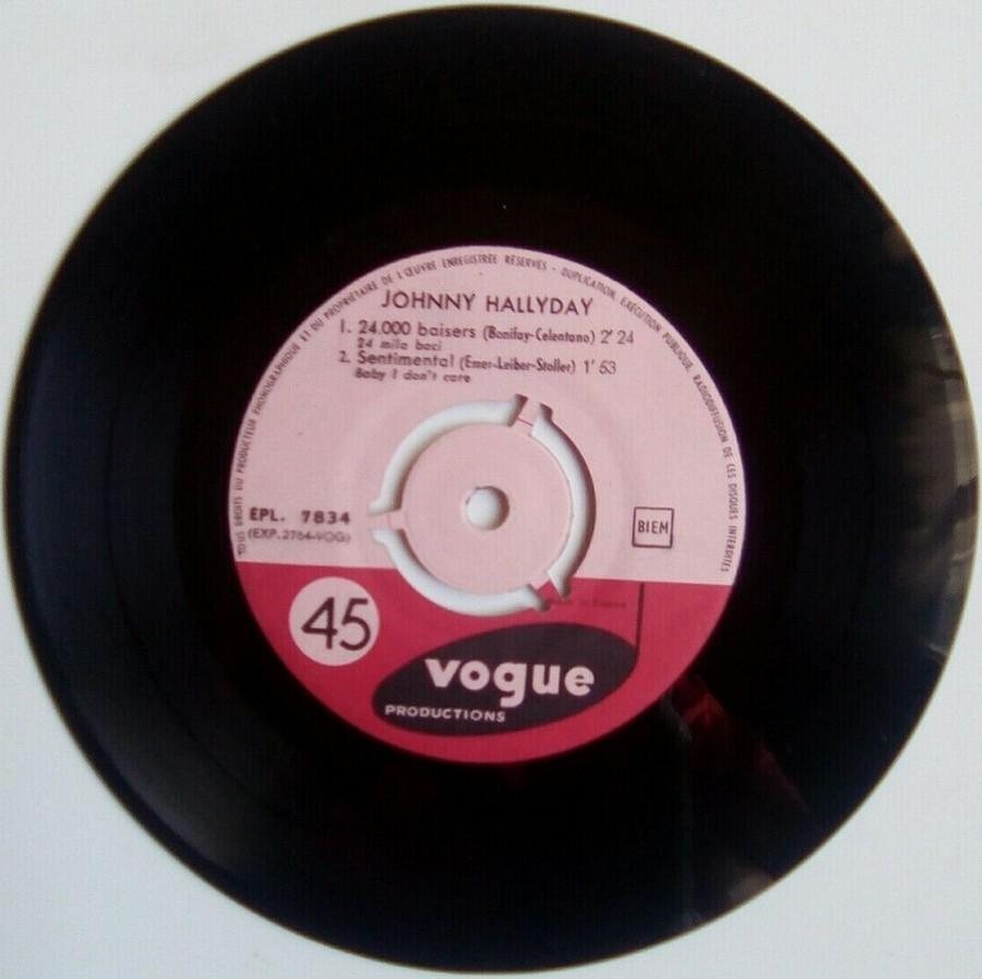 24.000 baisers ( EP 45 TOURS )( TOUTES LES EDITIONS )( 1961 - 2019 ) 1961_222