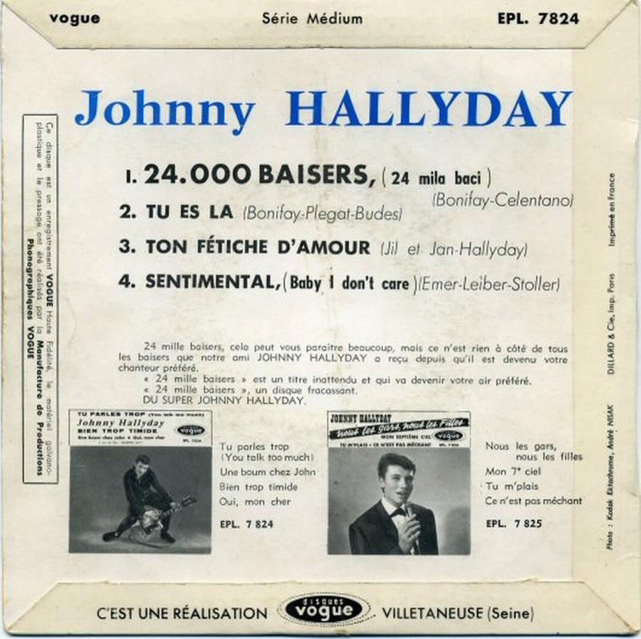 24.000 baisers ( EP 45 TOURS )( TOUTES LES EDITIONS )( 1961 - 2019 ) 1961_225