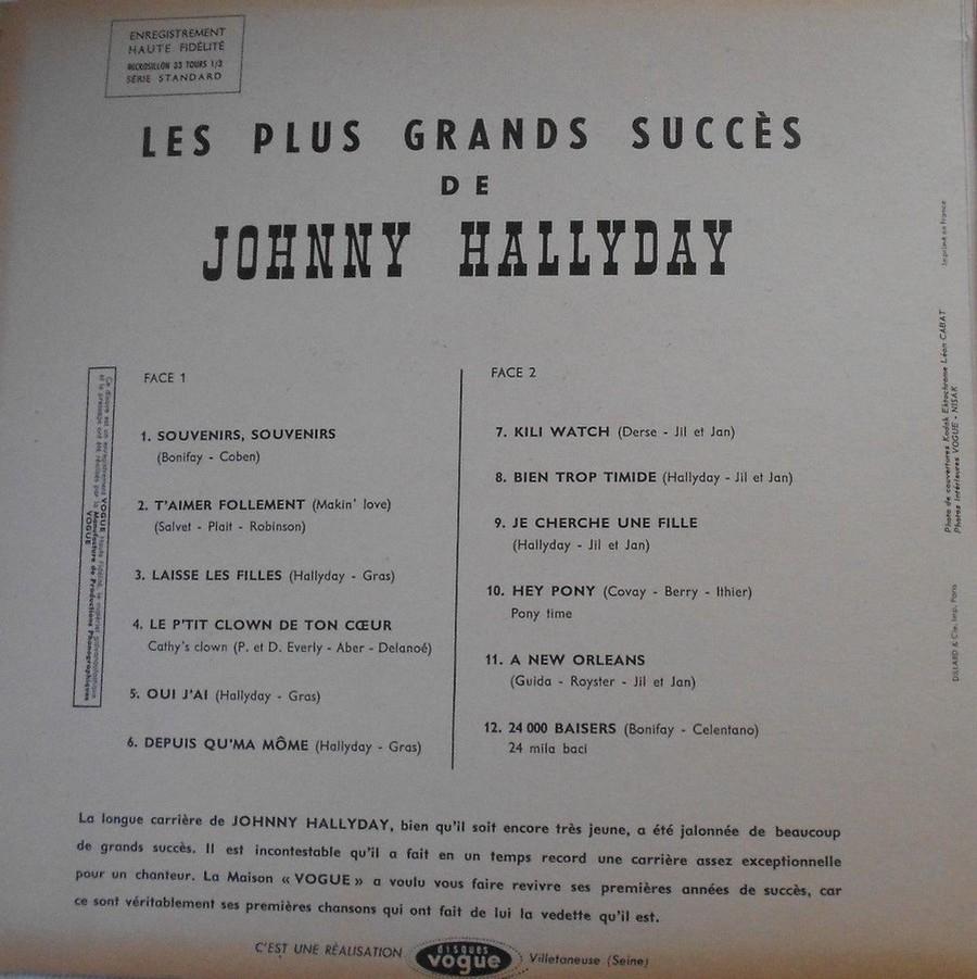 LES PLUS GRANDS SUCCES DE JOHNNY HALLYDAY ( 2 EDITIONS )( 1962-2020 ) 1962_057
