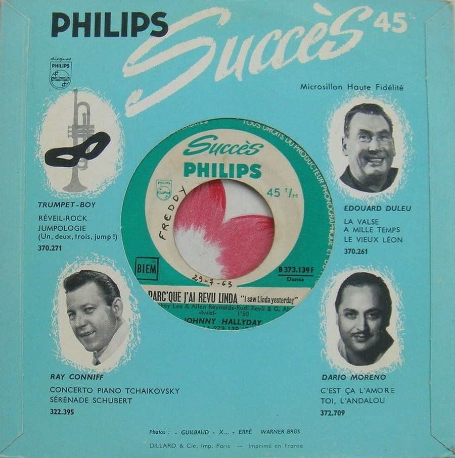 45 TOURS SP PHILIPS ( JUKEBOX )( 1961 - 1969 ) 1963_225
