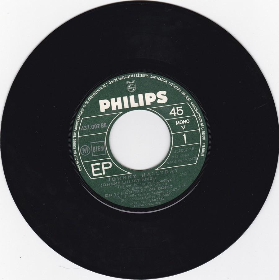 Johnny luit dit adieu ( EP 45 TOURS )( TOUTES LES EDITIONS )( 1965 - 2009 ) 1965_213