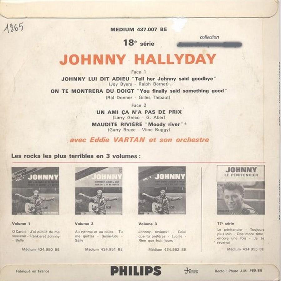 Johnny luit dit adieu ( EP 45 TOURS )( TOUTES LES EDITIONS )( 1965 - 2009 ) 1965_219