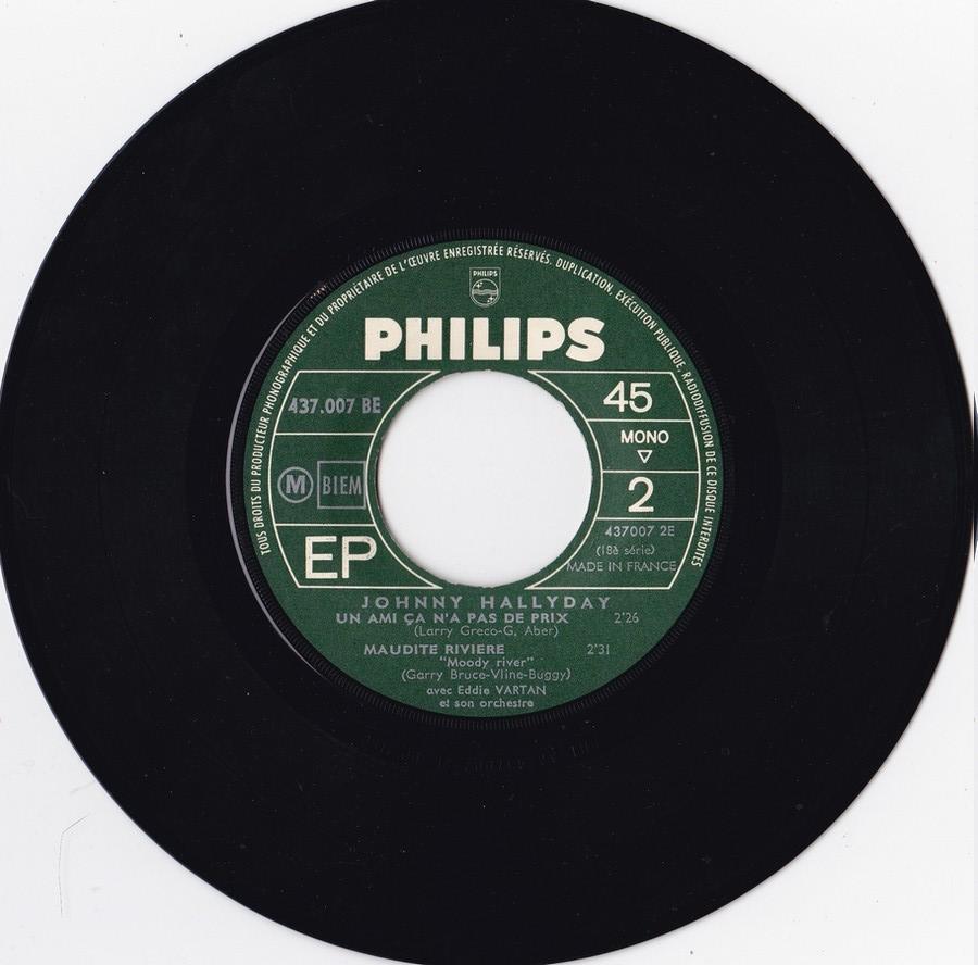 Johnny luit dit adieu ( EP 45 TOURS )( TOUTES LES EDITIONS )( 1965 - 2009 ) 1965_221