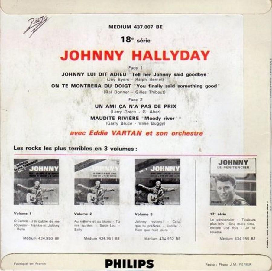 Johnny luit dit adieu ( EP 45 TOURS )( TOUTES LES EDITIONS )( 1965 - 2009 ) 1965_223
