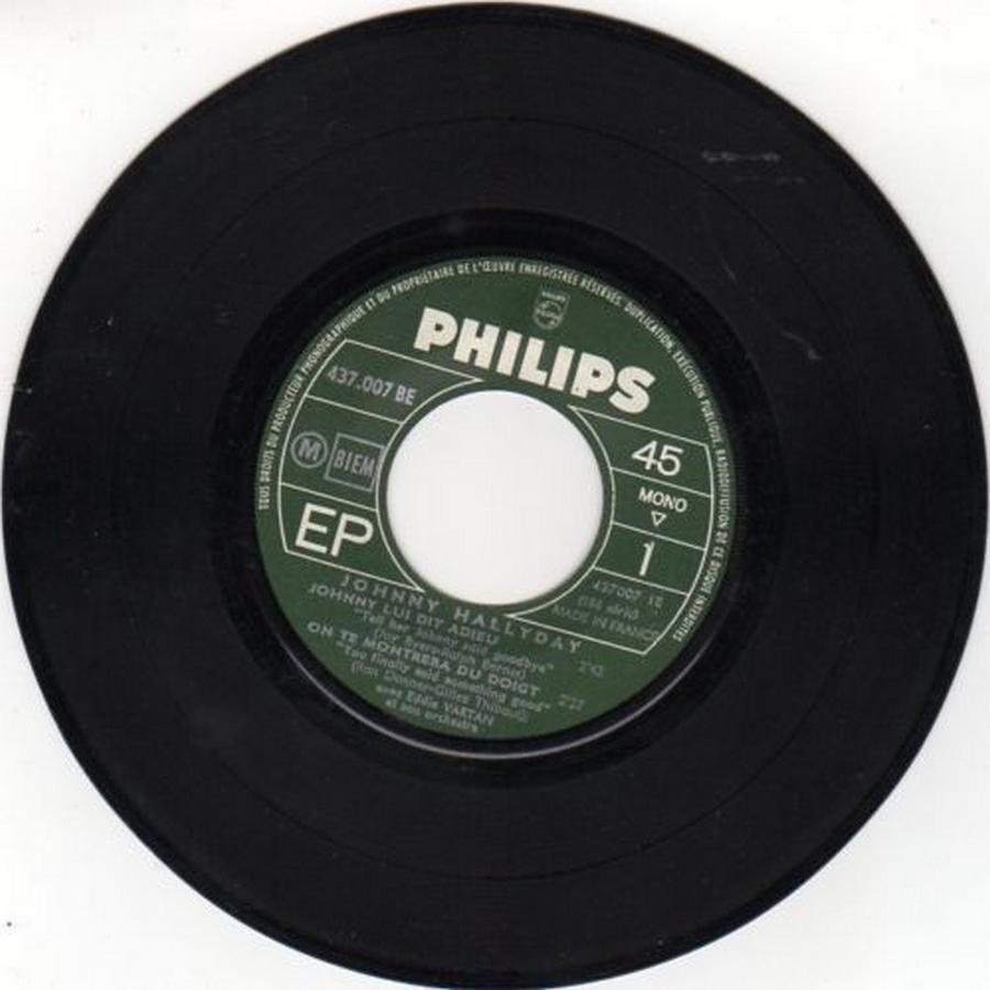 Johnny luit dit adieu ( EP 45 TOURS )( TOUTES LES EDITIONS )( 1965 - 2009 ) 1965_226