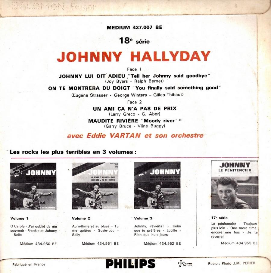 Johnny luit dit adieu ( EP 45 TOURS )( TOUTES LES EDITIONS )( 1965 - 2009 ) 1965_227