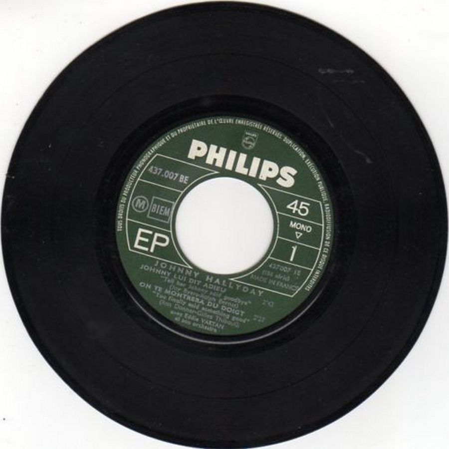 Johnny luit dit adieu ( EP 45 TOURS )( TOUTES LES EDITIONS )( 1965 - 2009 ) 1965_230